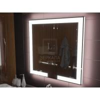 Зеркало с подсветкой лентой для ванной комнаты Новара 70x70 см
