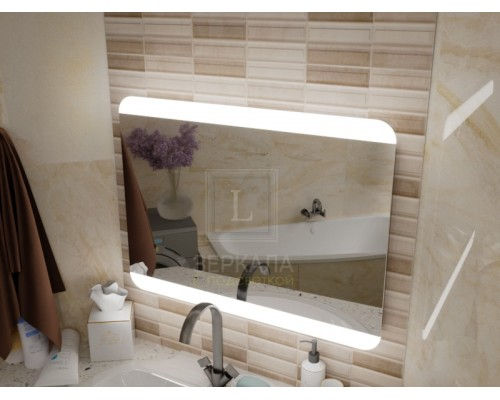 Зеркало с подсветкой для ванной комнаты Салерно
