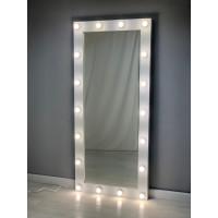 Белое гримерное зеркало с подсветкой 180х80