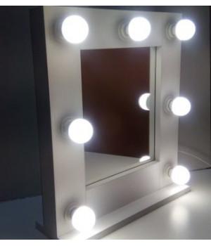 Гримерное зеркало с подсветкой 50х50 см 7 ламп