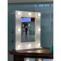 Гримерное зеркало 60х45 см с подсветкой 9 лампами
