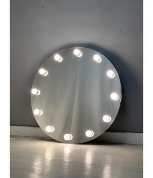 Круглое гримерное зеркало с подсветкой 80х80