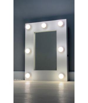Гримерное зеркало с подсветкой 60х45 см 7 ламп