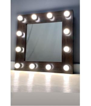 Гримерное зеркало с подсветкой 60х60 см 12 ламп