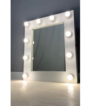 Гримерное зеркало с подсветкой 60х65 см 10 ламп