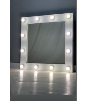 Гримерное зеркало с подсветкой 80х80 см 12 ламп
