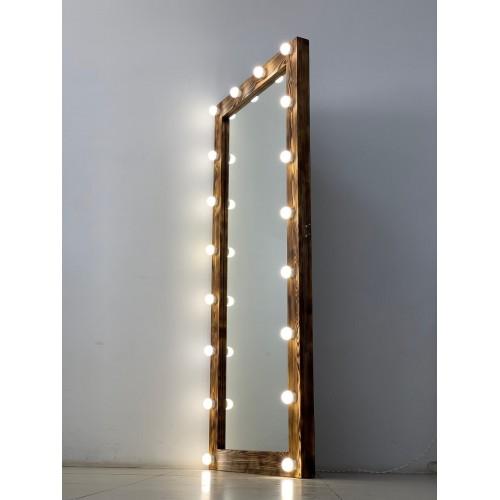 Гримерное зеркало в пол с лампочками