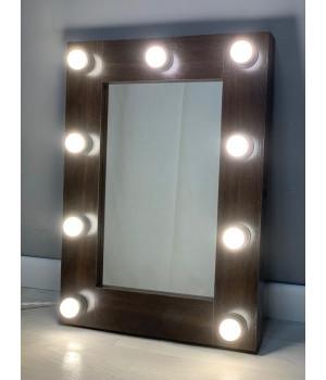 Гримерное зеркало с подсветкой 70х50 см 9 ламп