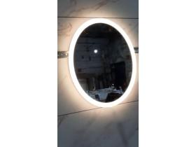 Выполненная работа: овальное зеркало для ванной комнаты с подсветкой Авеллино 500х400 мм (г. Ростов-на-Дону)