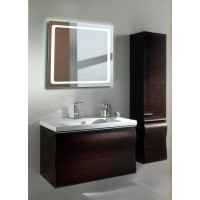 Квадратное LED зеркало с подсветкой в ванной Катро 70x70 см